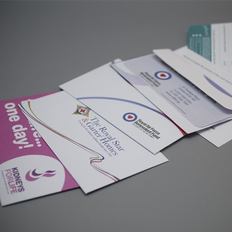 Small Printed Bangtail envelopes with perforated section