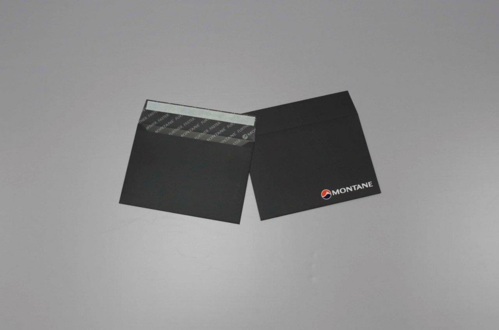 Bespoke matt laminated black envelopes