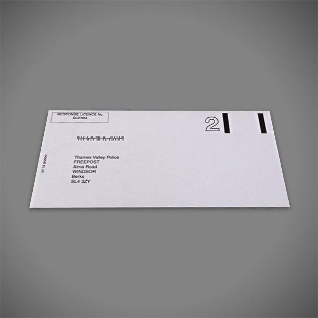 BRE Business Reply Envelope Printed 1 colour (black)