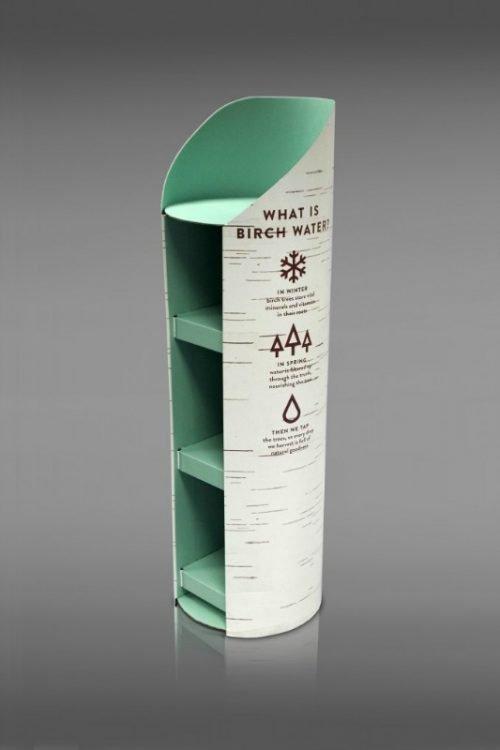 Round FSDU 4 Shelf Free Standing Display Unit Cylindrical / Circular