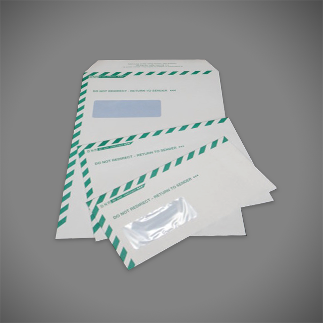 DNR Do Not Redirect 2 colour print DL, C5, C4 envelopes for councils
