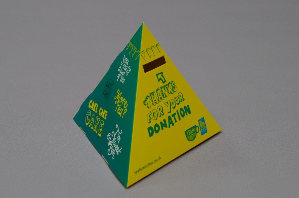 Cardboard donation box