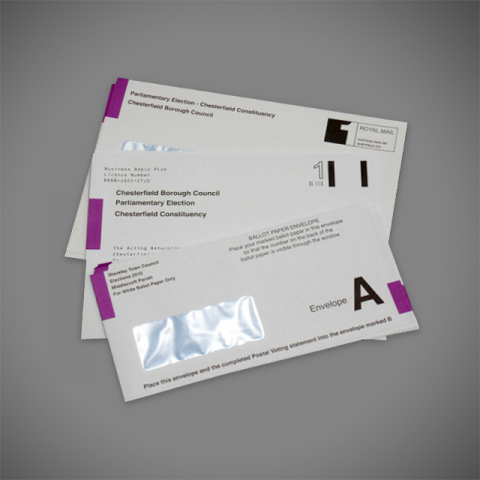 Printed Election Envelopes for council mailings