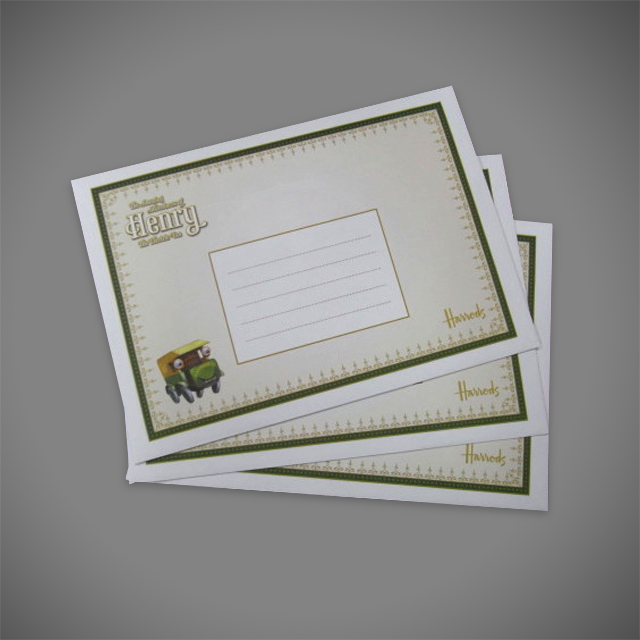 High Quality 4 Colour CMYK Litho Printed Envelopes