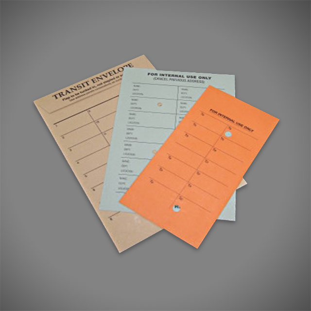 Internal Mail Envelopes, Pre-printed and coloured
