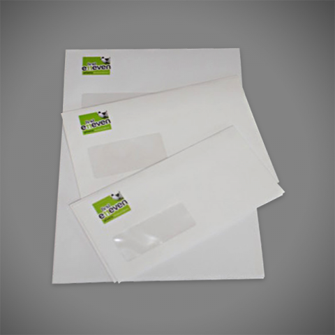 Matching Stationery Sets including printed letterheads and envelopes