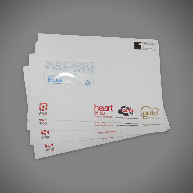 Printed Recycled Envelopes 4 color Full Colour CMYK C5