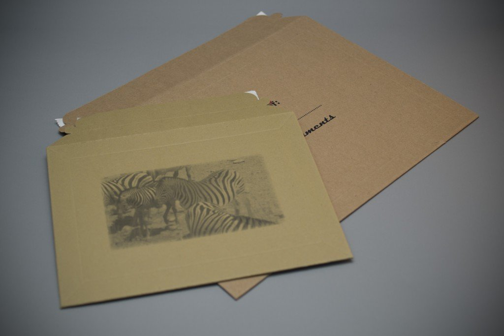 Printed All Board Envelope, Kraft brown manila natural