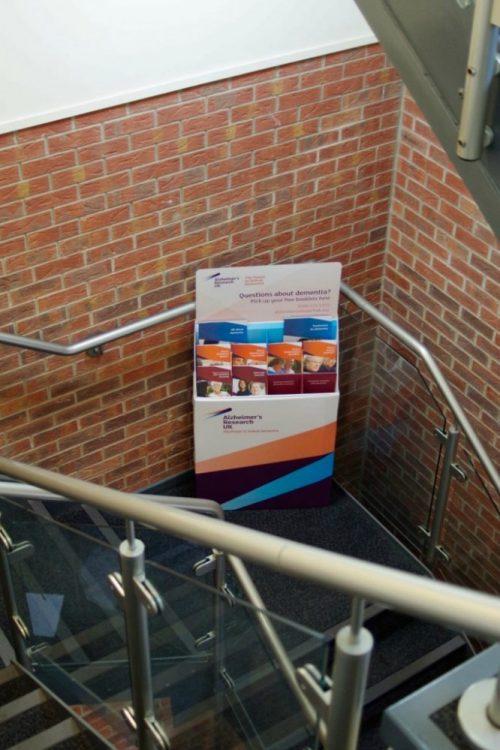 Slimline FSDU cardboard bespoke leaflet display floor standing display stand