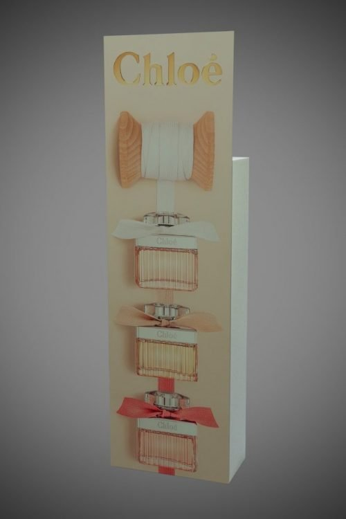 Foamex display stand FSDU printed back reverse