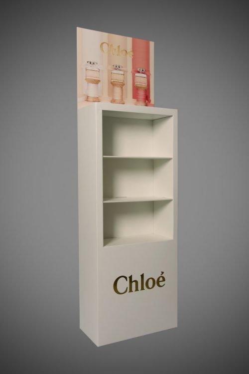 High end foamex and cardboard perfume display stand