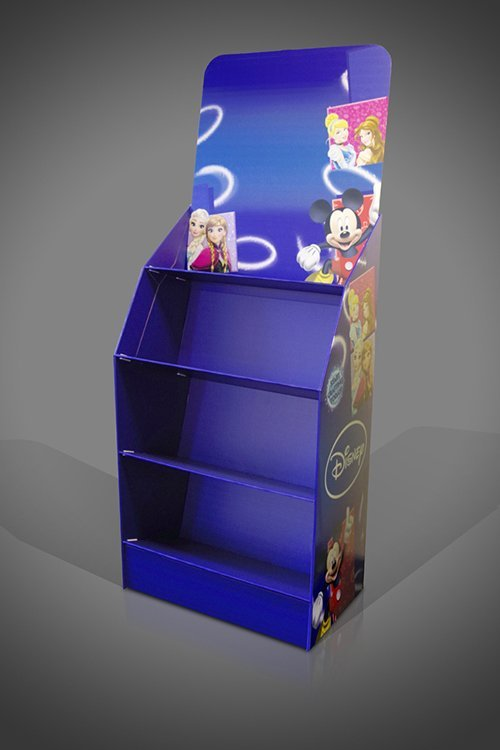 Sloping shelf cardboard FSDU display stand