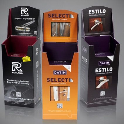 Brochure Catalogue Cardboard Dump Bin Display Stand