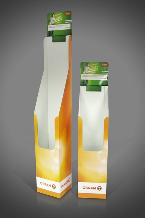 Osram Florescent LED Tubes cardboard display unit free standing