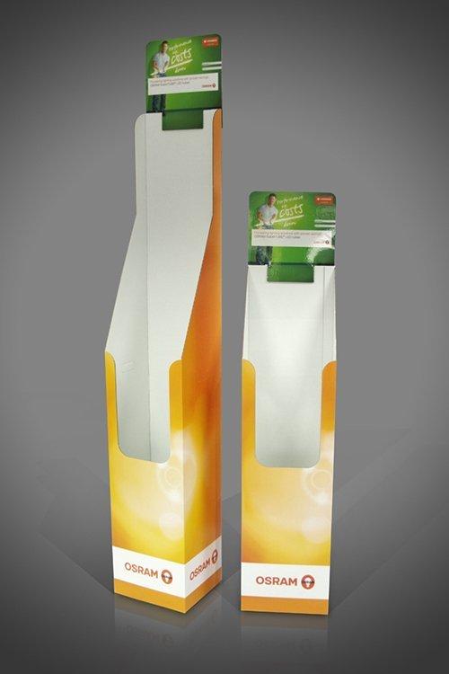 Osram Florescent LED Tubes cardboard display unit free standing