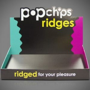Pop Chips Counter Top Cardboard Display Box