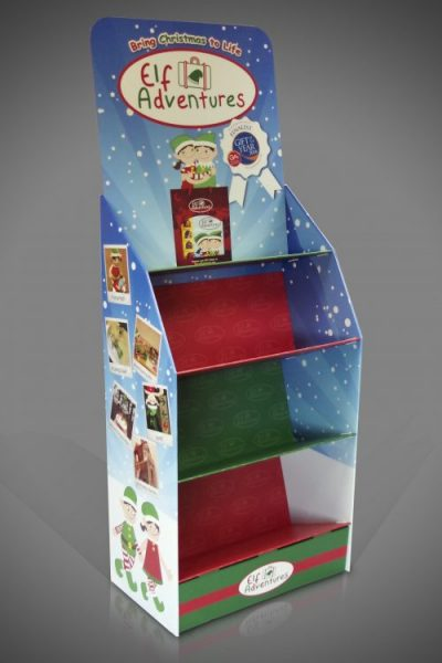Sloping Shelf cardboard Christmas Display Unit (stand)