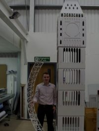 Cardboard Trade Show Display: Big Ben 2