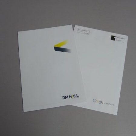Printed Gusset Envelope - low ink coverage 2 colour