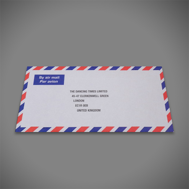 Airmail printed DL envelope