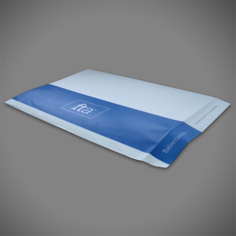 C3 Allboard Envelope printed with bleed on face and flap