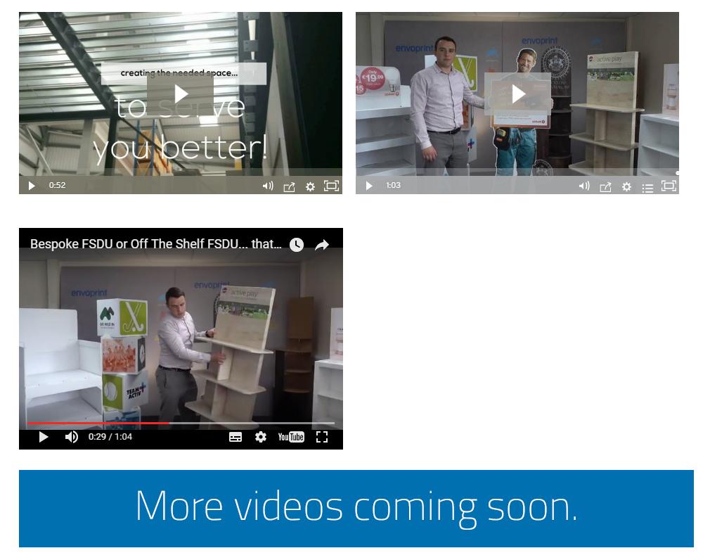 New FSDU Cardboard Display Stand videos