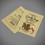 Small manilla printed seed packet envelope