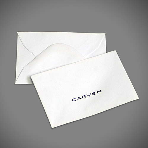 Small gift card/token envelope with gummed diamond flap, printed 1 colour