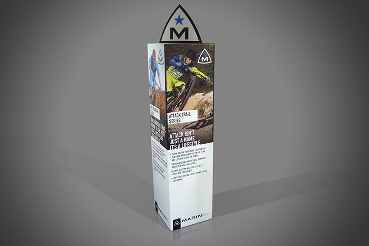 Cardboard Totem Display example image