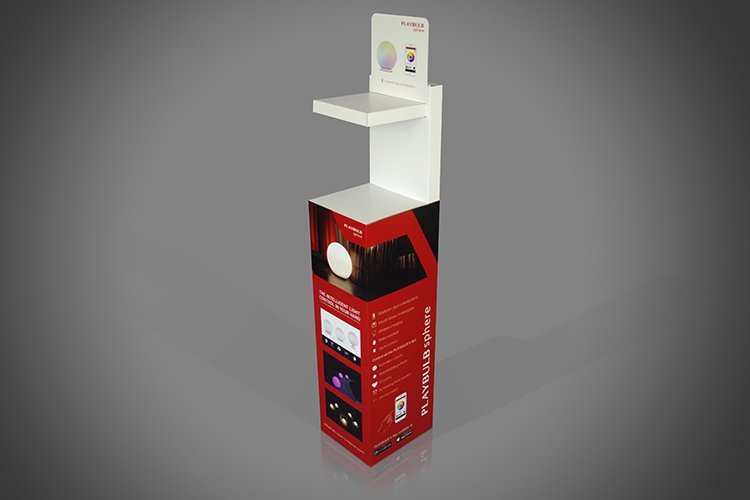 Cardboard Point of Sales Display Unsupported Display Shelf  FSDU