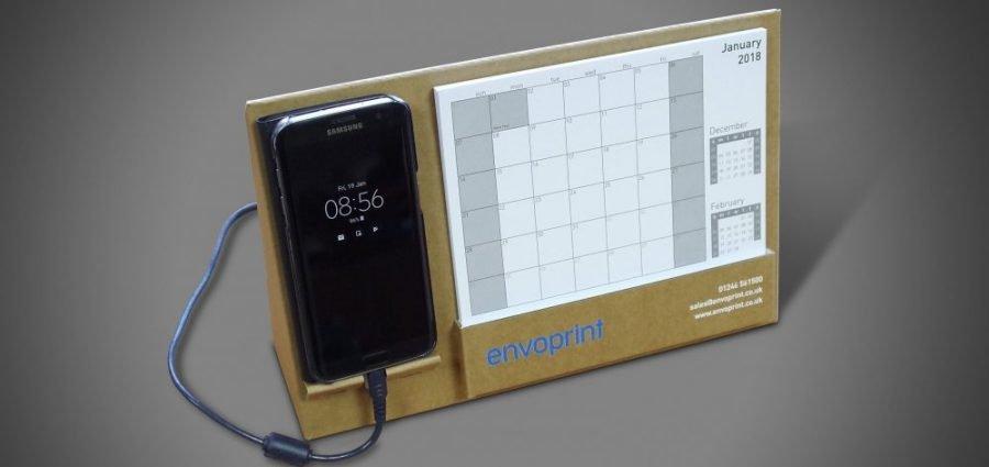 Bespoke Cardboard Display - Envoprint's 2018 Calendar 1