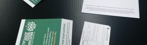 GDPR Gift Aid Donation Envelopes with bangtail tear-off perforated section
