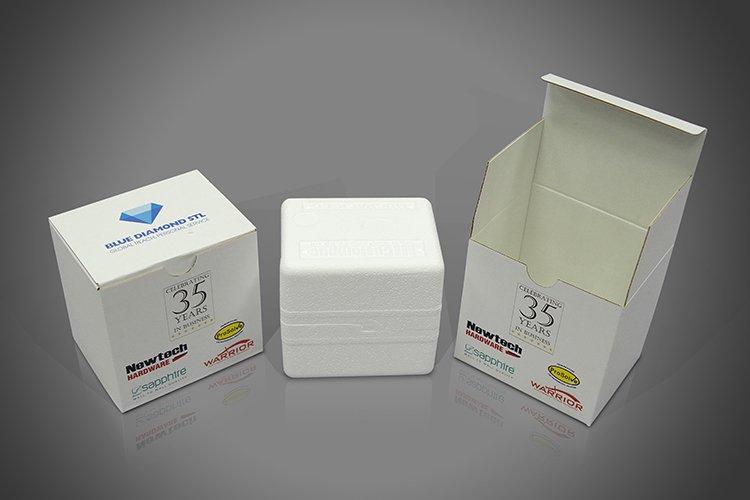 Bespoke printed promotional gift branded mug box