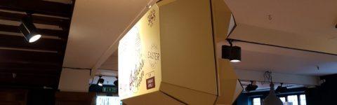 Liberty London Cardboard Egg-Box Easter Hanging FSDU POS Display