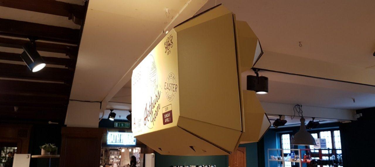 Liberty London Cardboard Egg-Box Hanging POS Display