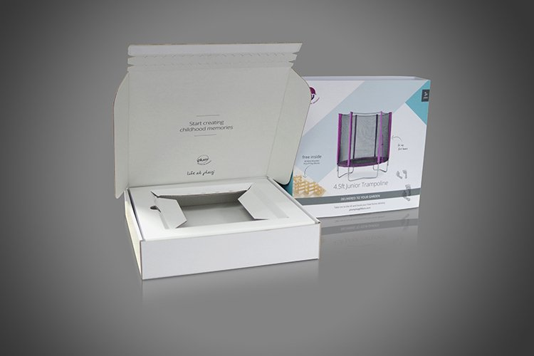 Peel & Seal Closure Display Box with integral corrugated cardboard insert