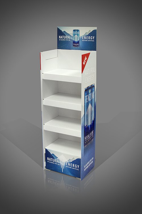 4 Shelf Heavy Duty Strong FSDU for Energy Drinks