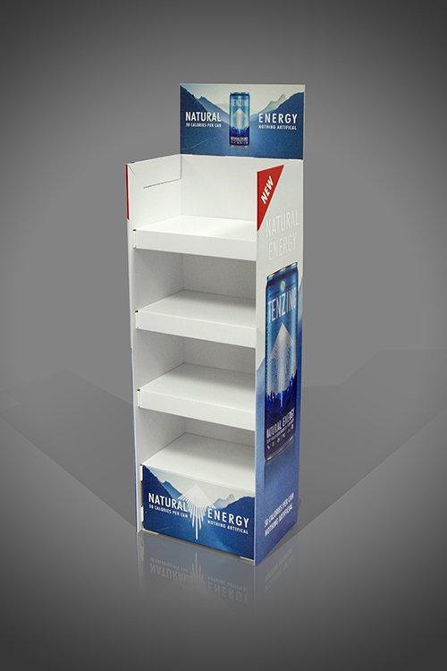 4 Shelf Heavy Duty Strong FSDU for Energy Drinks