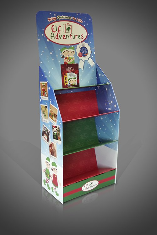 Christmas FSDU Display Cardboard Elf Stand