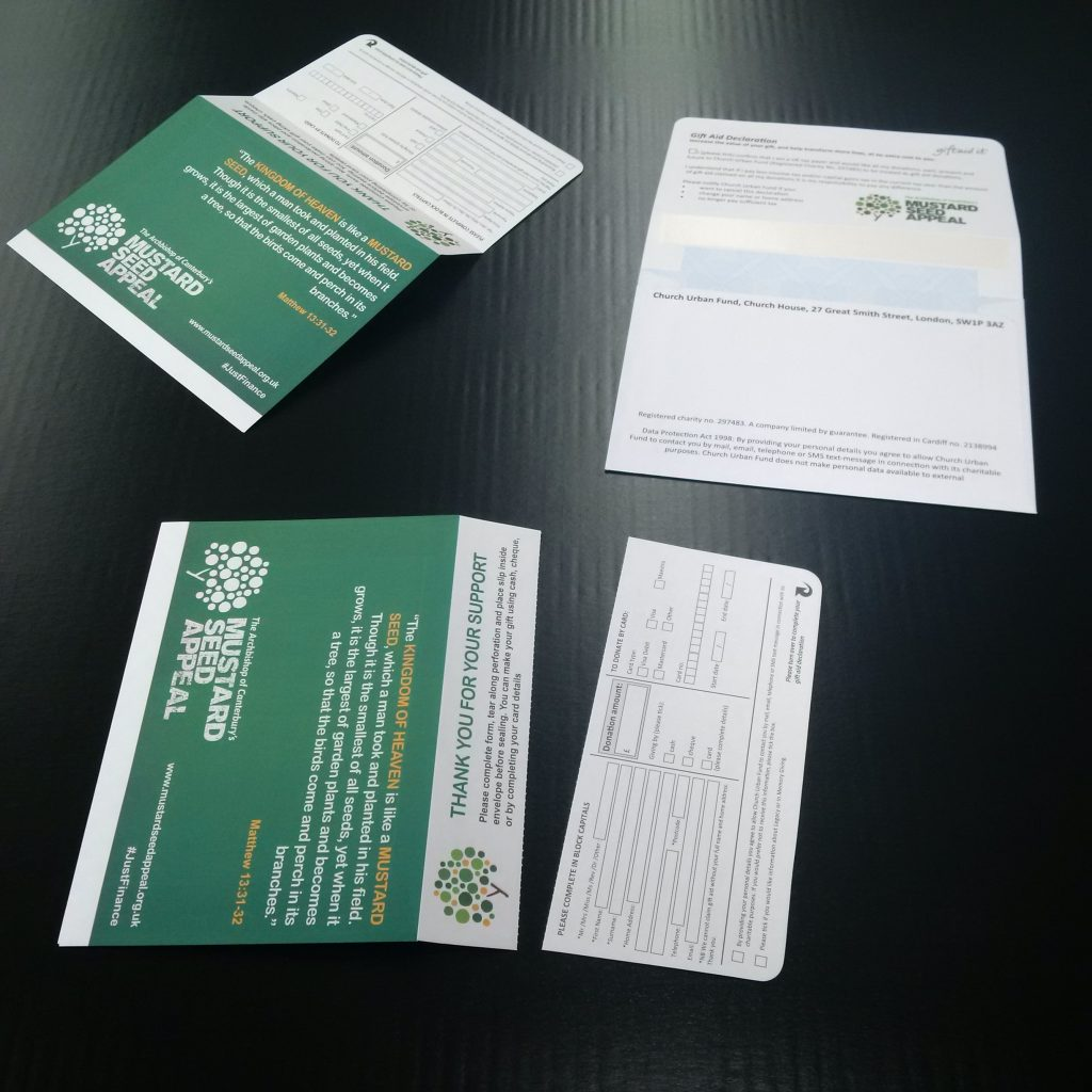 C6 Donation Envelopes with tear-off bangtail flap (bangflap), gummed or peel & seal