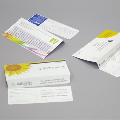 DL 110x220mm Donation Envelopes with tear-off bangtail flap (bangflap)