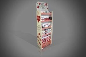 Valentines Day FSDU Cardboard Display Unit Floor Standing Image