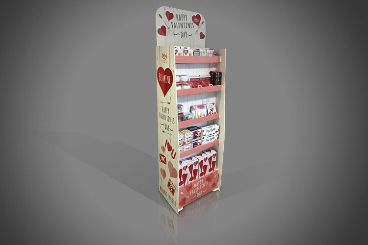 Valentines Day FSDU Cardboard Display Unit Floor Standing Image