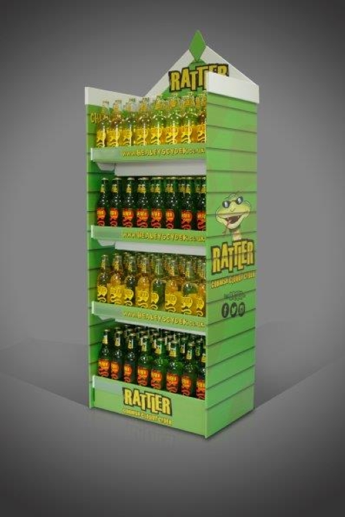 Heavy duty FSDU Display Unit, weight tested to hold many KG of bottles