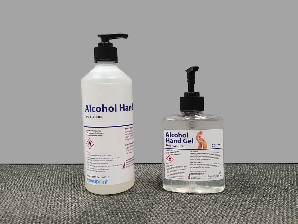 UK Manufactured Cardboard Hand Sanitiser Stations 2
