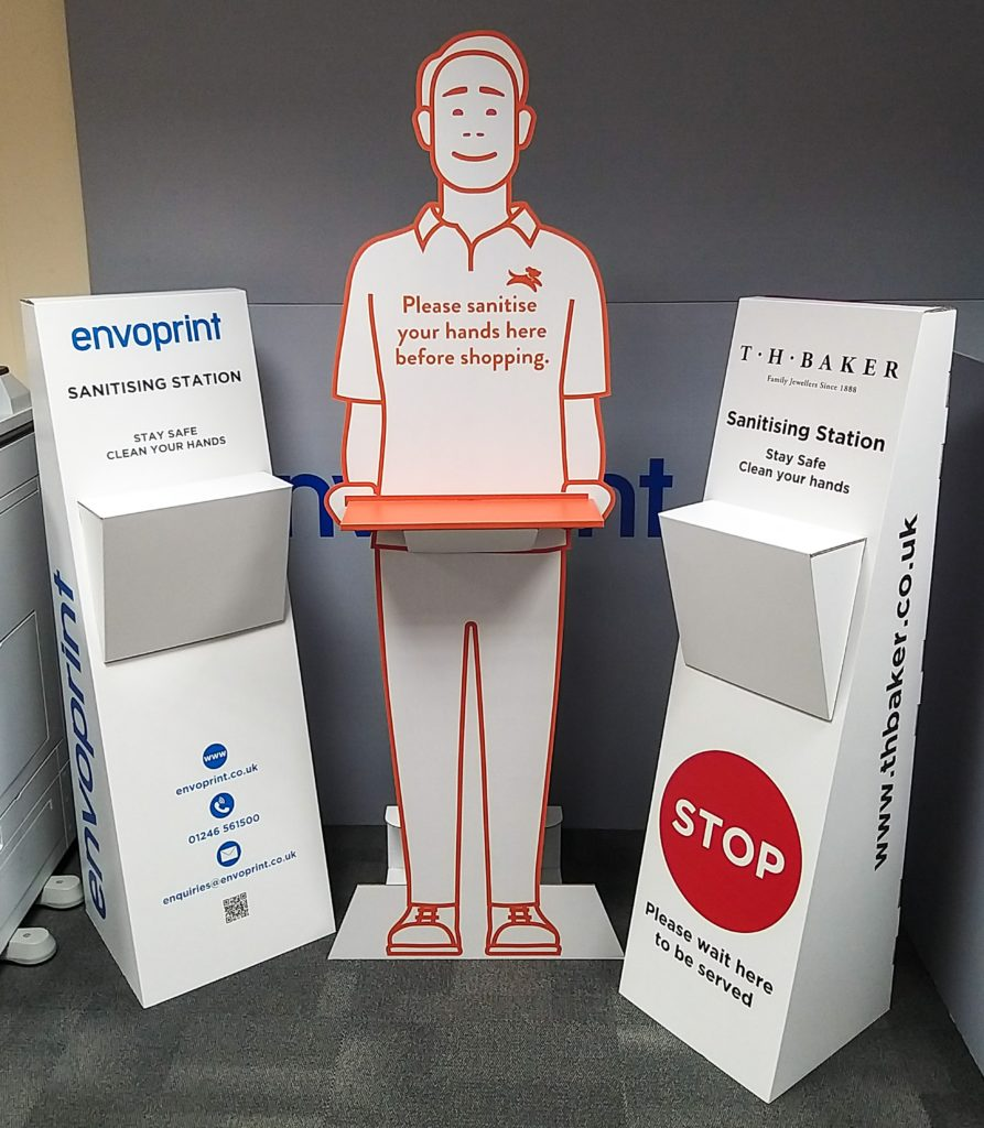 UK Manufactured Cardboard Hand Sanitiser Stations 3
