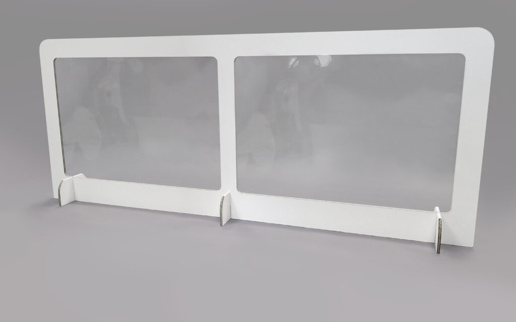 Cardboard & Clear Plastic Desk Divider Screens, UK Manufacturer 4