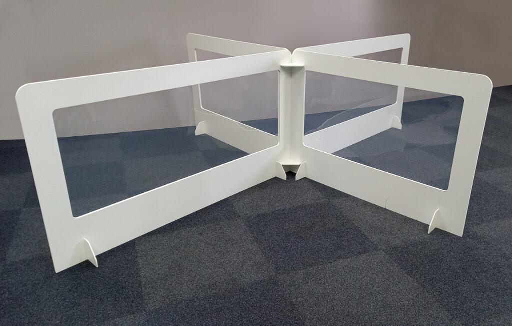 Cardboard & Clear Plastic Desk Divider Screens, UK Manufacturer 1