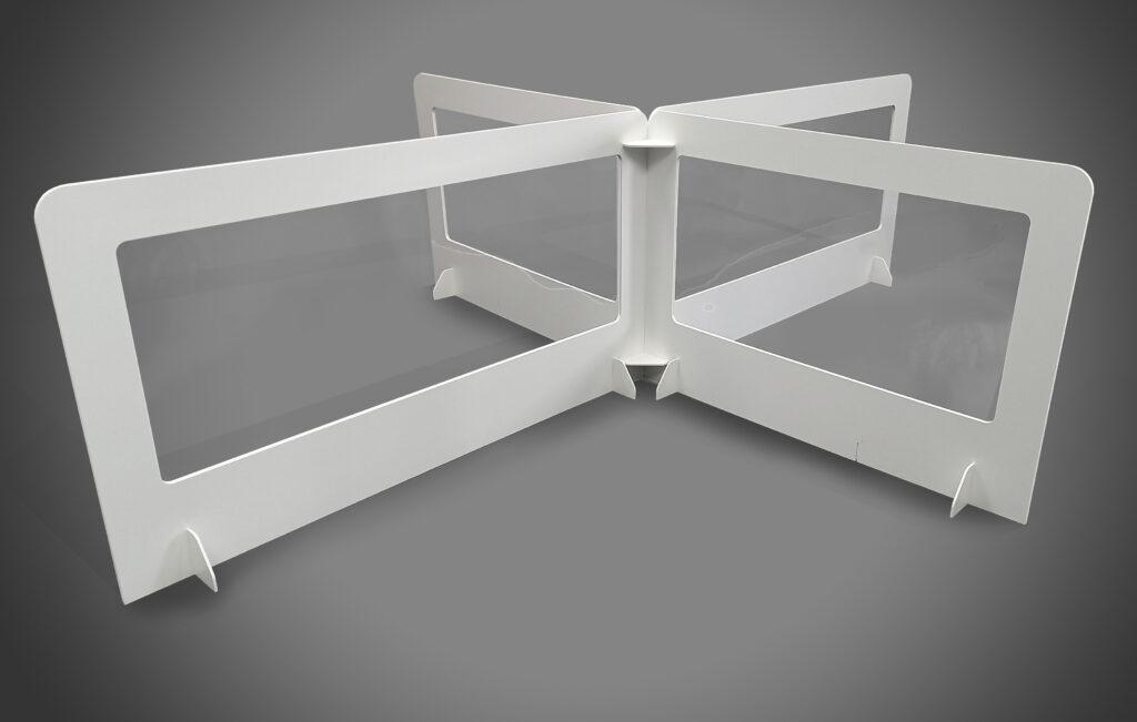Cardboard & Clear Plastic Desk Divider Screens For Social Distancing, UK Manufacturer 3