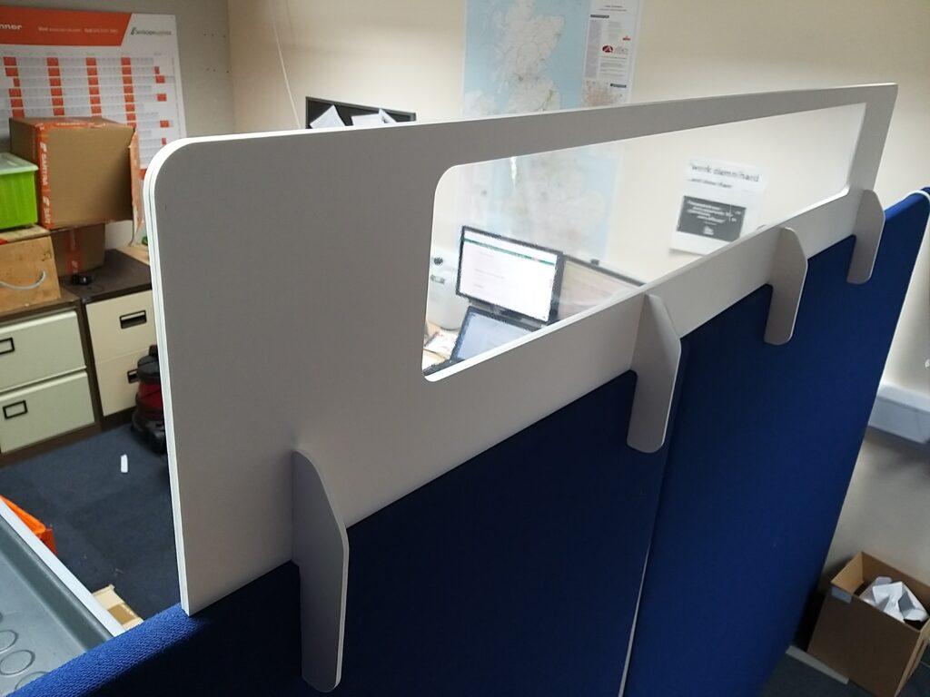 Cardboard & Clear Plastic Desk Divider Screens, UK Manufacturer 3